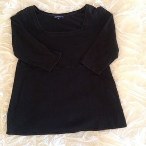 Black 3/4 Length Sleeve Maternity Top